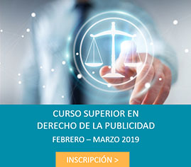 INSCRIPCIÓN CURSO SUPERIOR DERECHO PUBLICIDAD