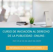 INSCRIPCIÓN CURSO INICIACIÓN AL DERECHO DE LA PUBLICIDAD ONLINE